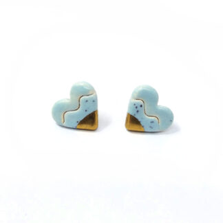 gold dipped ceramic earrings