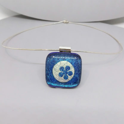 dichroic glass necklace with foil inclusions