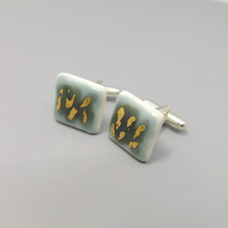 porcelain cufflinks