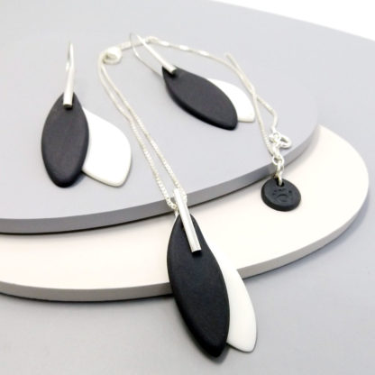 sterling silver and porcelain jewellery
