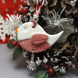 Porcelain robin decoration